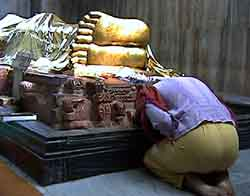 Bowing to the Buddha